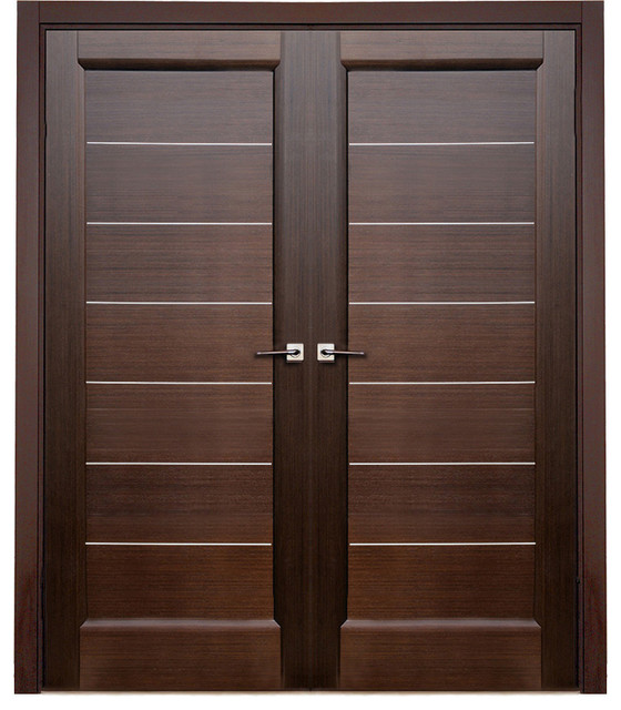 Latest wooden main double door designs native home for Modern wooden main door design